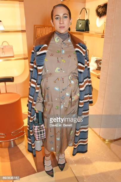 Delfina Delettrez attends the FENDI Sloane Street boutique opening on December 14 2017 in London England