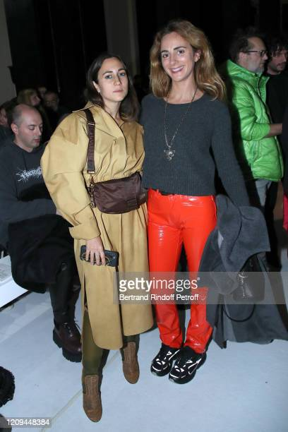 Delfina Delettrez Fendi and Alexia Niedzielski attend the Haider Ackermann show as part of the Paris Fashion Week Womenswear Fall/Winter 2020/2021 on...