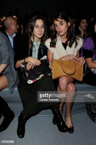 Delfina Delettrez Fendi and Ambra Medda the cofounder and director of Design Miami and Design Miami/Basel attend the Fendi Milan Fashion Week...