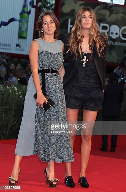 Delfina Delettrez Fendi and Bianca Brandolini attends the 'Somewhere' premiere during the 67th Venice Film Festival at the Sala Grande Palazzo Del...