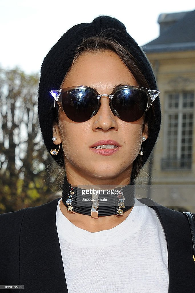Delfina Delettrez Fendi arrives at Christian Dior Fashion Show during Paris Fashion Week Womenswear Spring/Summer 2014 on September 27, 2013 in Paris, France.