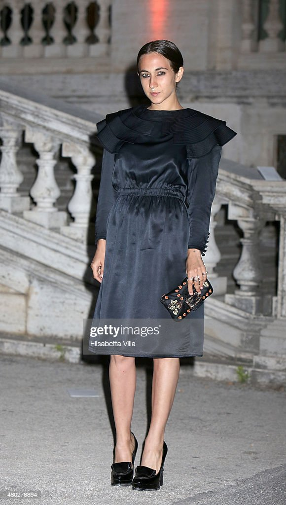 Delfina Delettrez Fendi attends 'Couture / Sculpture' Vernissage Cocktail honoring Azzedine Alaia in the history of fashion as part of AltaRoma AltaModa Fashion Week Fall/Winter 2015/16 at Galleria Borghese on July 10, 2015 in Rome, Italy.