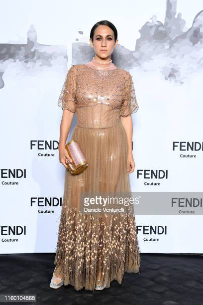 Delfina Delettrez Fendi attends the Cocktail at Fendi Couture Fall Winter 2019/2020 on July 04 2019 in Rome Italy