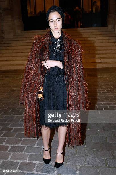 Delfina Delettrez Fendi attends the Jeanne Lanvin Retrospective Opening Ceremony at Palais Galliera on March 6 2015 in Paris France