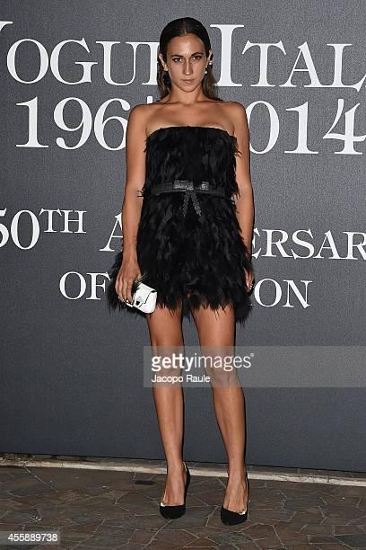 Delfina Delettrez Fendi attends Vogue Italia 50th Anniversary during Milan Fashion Week Womenswear Spring/Summer 2015 on September 21 2014 in Milan...