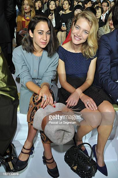 Delfina DelettrezFendi and Natalia Vodianova attends the Louis Vuitton Spring/Summer 2013 show as part of Paris Fashion Week on October 3 2012 in...