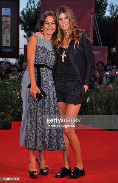 Delfina Fendi and Bianca Brandolini attend the Somewhere premiere during the 67th Venice Film Festival at the Sala Grande Palazzo Del Cinema on...