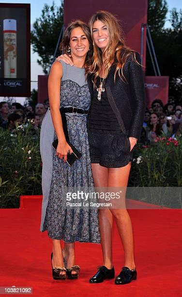 Delfina Fendi and Bianca Brandolini attends the Somewhere premiere during the 67th Venice Film Festival at the Sala Grande Palazzo Del Cinema on...