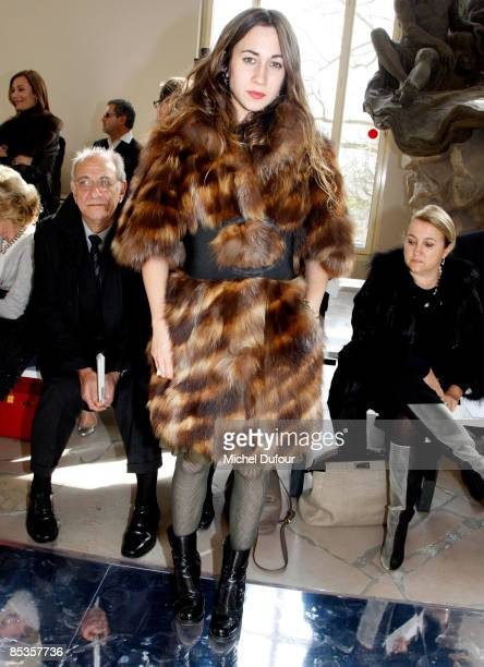 Delfina Fendi attends the Valentino ReadytoWear A/W 2009 fashion show during Paris Fashion Week at Cite de l'Architecture on March 10 2009 in Paris...