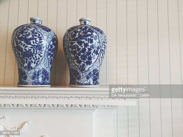 Delft Blue Vases With Floral Motifs