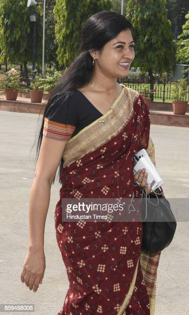 Delhi AAP MLA Alka Lamba arrives to attend the session of the Legislative Assembly of National Capital Territory of Delhi in the Assembly Hall Delhi...