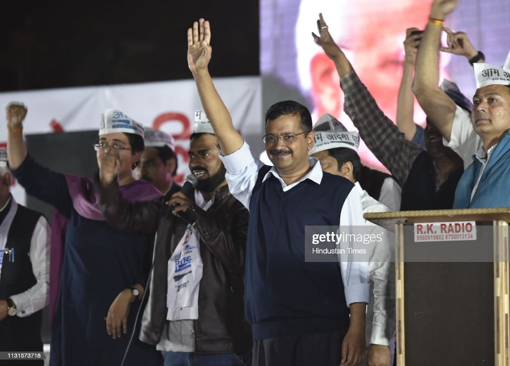 IND: Delhi Chief Minister Arvind Kejriwal Address First Lok Sabha Election Campaign Rally For Aam Aadmi Party