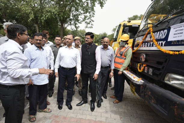 IND: Delhi Chief Minister Arvind Kejriwal Attends Safety Awareness Workshop For Field Level Sewage Functionaries
