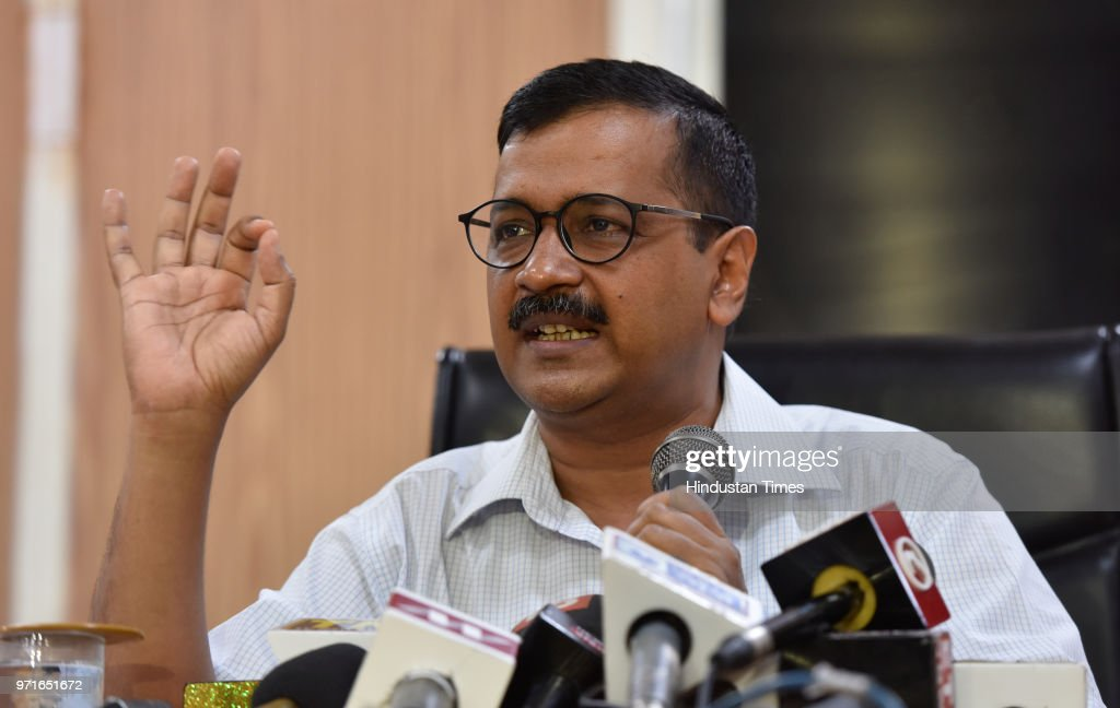 Delhi Chief Minister Arvind Kejriwal Press Conference On IAS Officers Strike