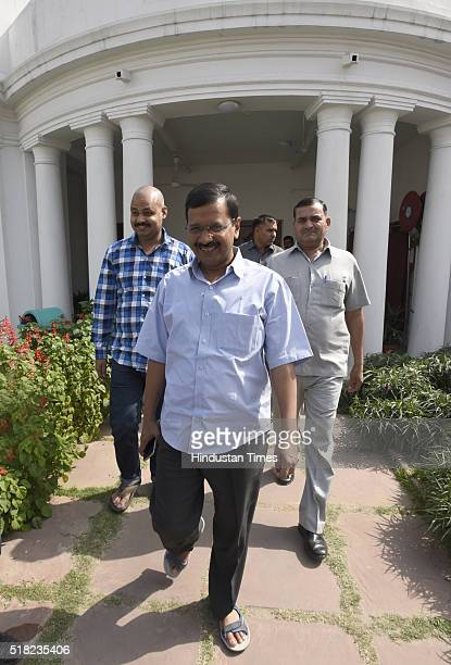 Delhi Chief Minister Arvind Kejriwal during the Delhi Assembly Budget Session at Delhi Vidhan Sabha on March 30 2016 in New Delhi India The Delhi...