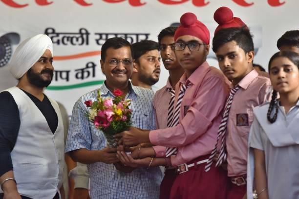 IND: Delhi Chief Minister Arvind Kejriwal Inaugurates CCTV Project At Guru Nanak Nagar