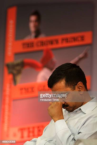 Delhi Chief Minister Arvind Kejriwal during the launch of AAP leader Ashutosh's Book release titled 'The Crown Prince The Gladiator and The Hope' at...