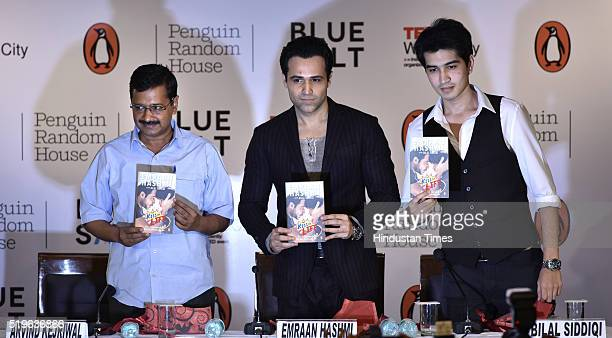 Delhi Chief Minister Arvind Kejriwal during the release of Emraan Hashmi's first book titled 'The Kiss Of Life How A Superhero And My Son Defeated...
