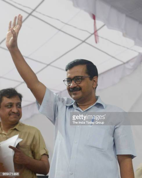 Delhi Chief Minister Arvind Kejriwal inaugurated the citys first rooftop solar power plant at IP Extensions Milan Vihar Apartments in New Delhi