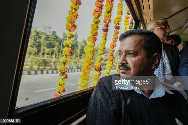 Delhi Chief Minister Arvind Kejriwal launched the pilot project for Delhi Common Mobility Card, on January 8, 2018 in New Delhi, India. Transport...
