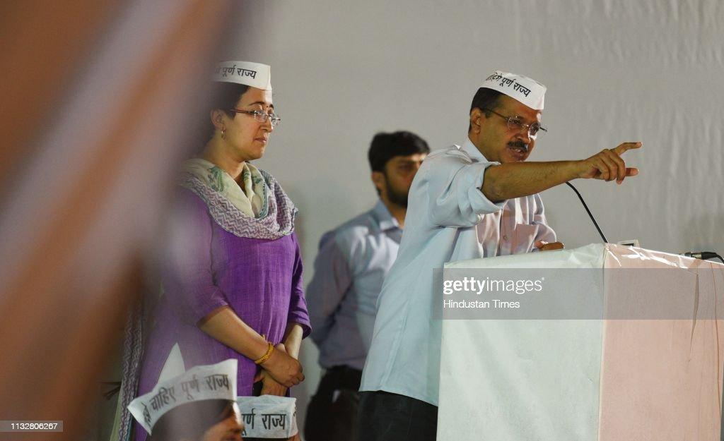 IND: Delhi Chief Minister Arvind Kejriwal Address Lok Sabha Campaign Rally In Khichdipur