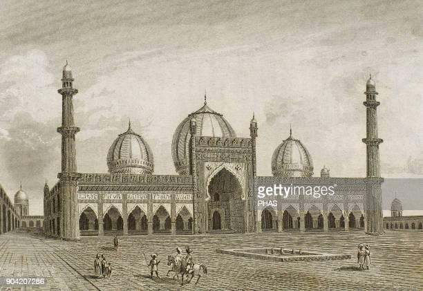 Delhi India The Masjidi JahanNuma known as the Jama Masjid It was built by Mughal emperor Shah Jahan between 1644 and 1656 Anonymous engraving...