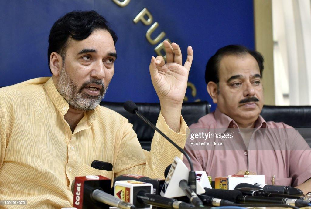 Delhi Labour Minister Gopal Rai Addresses Media On Labour Contract System