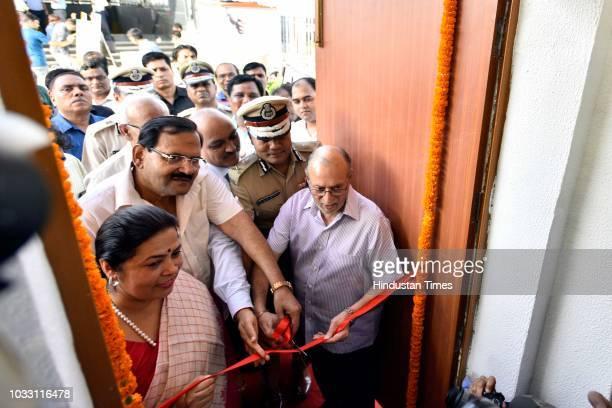 Delhi Lieutenant Governor Anil Baijal Delhi Police Commissioner Amulya Patnaik and Lok Sabha MP Meenakashi Lekhi inaugurate Police Assistance Booth...