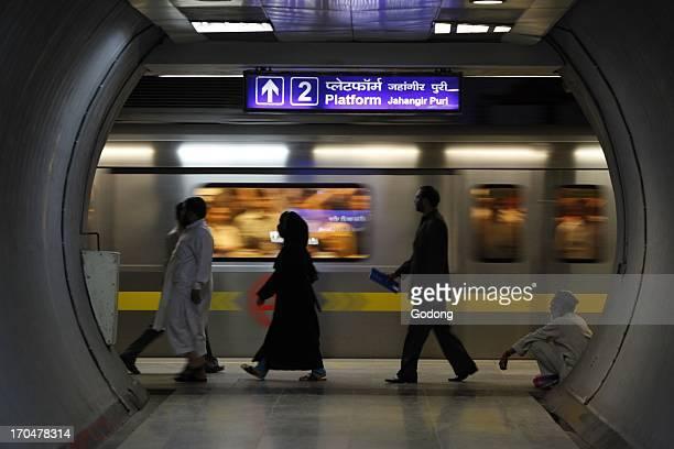 Delhi metro subway Delhi India
