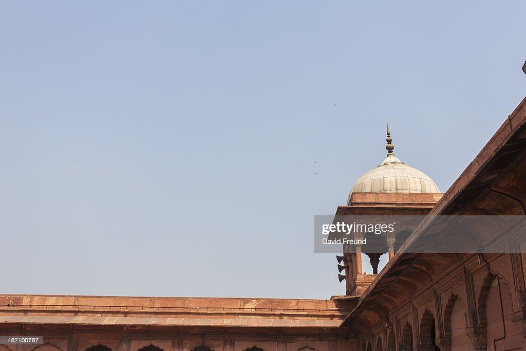 Delhi Mosque Corner Detail : Stock Photo