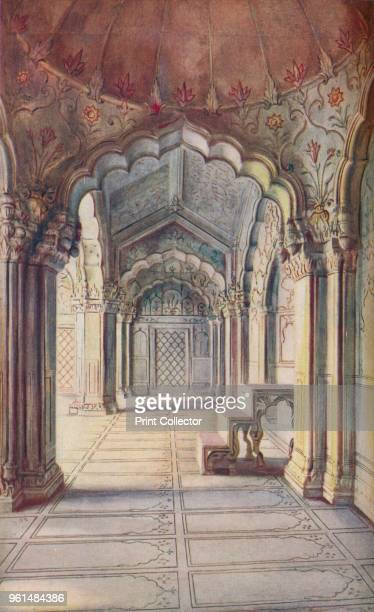 Delhi Opposite the Royal Baths stands the Moti Masjid or Pearl Mosque built AD 1659 by Aurungzebe the great Mogul Emperor' circa 1930s From...