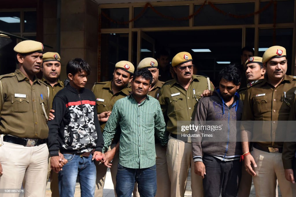 Delhi Police Arrested The Three Accused In The Murder Of 53 Year Old News Photo Getty Images