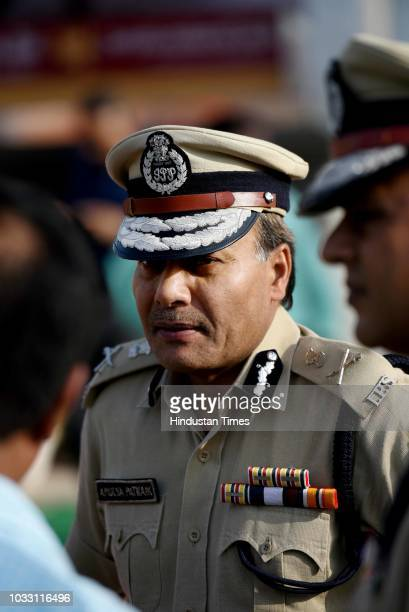 Delhi Police Commissioner Amulya Patnaik during an inauguration ceremony of Police Assistance Booth at AIIMS on September 14 2018 in New Delhi India