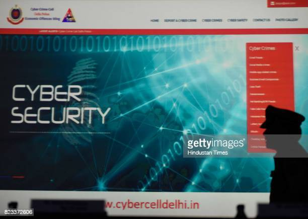 Delhi Police Commissioner Amulya Patnaik during the launch of a website cybercelldelhiin for the public to facilitate filing of cybercrime cases and...