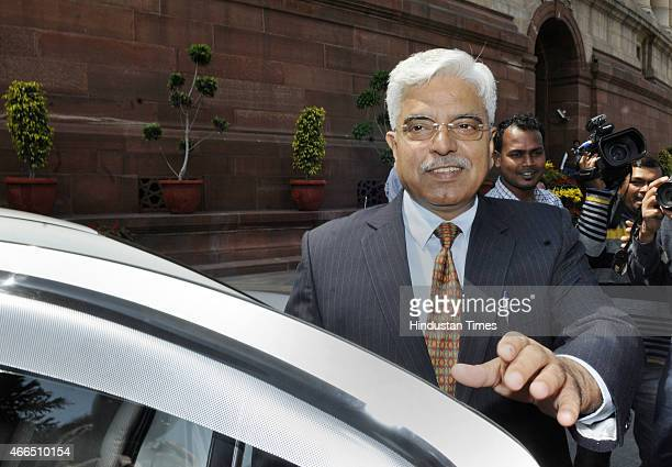 Delhi Police Commissioner BS Bassi at Parliament House during Budget Session on March 16 2015 in New Delhi India Opposition parties in Parliament and...