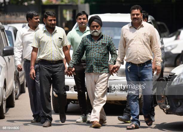 Delhi Police Special Cell arrest Richhpal who involved in illegal arms manufacturing and supplied arms to Naxal at PHQ on May 11 2017 in New Delhi...