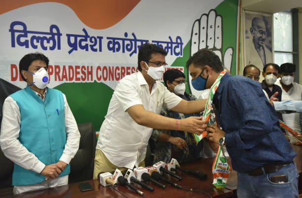 IND: BJP And AAP Leaders And Workers Join Congress Party