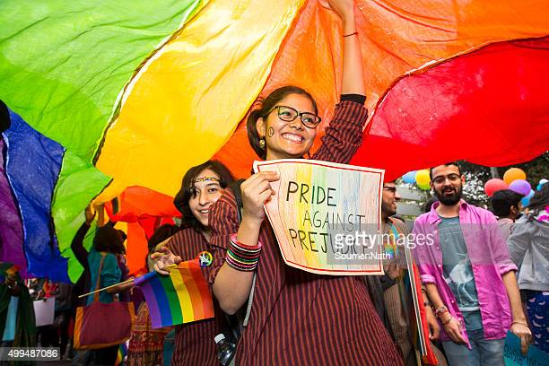 delhi queer pride -2015 - pride stock pictures, royalty-free photos & images