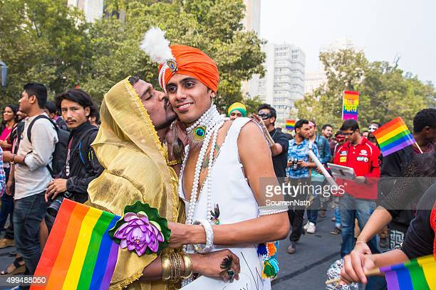 delhi queer pride -2015 - transgender man stock photos and pictures