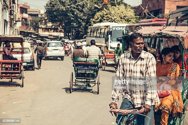 Delhi Conducteur de pousse-pousse