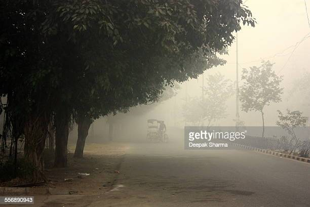 Delhi road and fogs