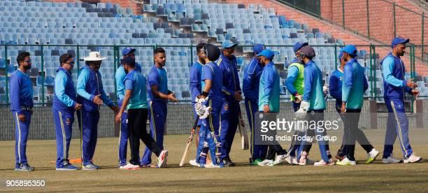 Delhi Team wins the match against Haryana during Delhi vs Haryana T20 match at Feroz Shah Kotla ground in New Delhi