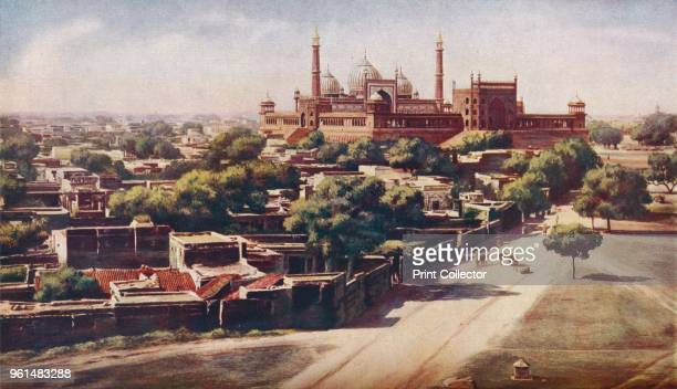Delhi. The Jama Masjid is one of the very few mosques in India designed to present a pleasing exterior, and it stands imposingly on an enormous...