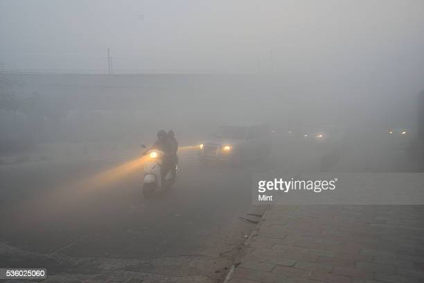 Delhi the world's most polluted city engulfed in heavy smog due to air pollution on December 8 2015 in New Delhi India