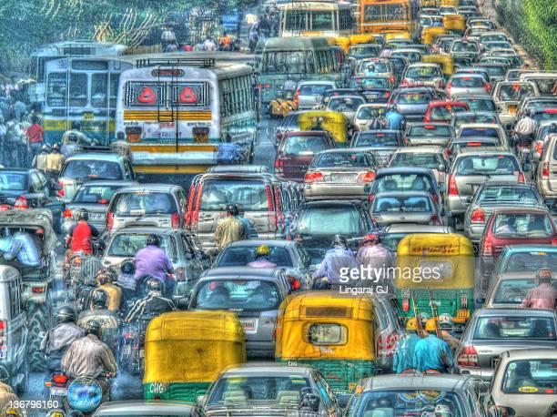 Delhi traffic in HDR