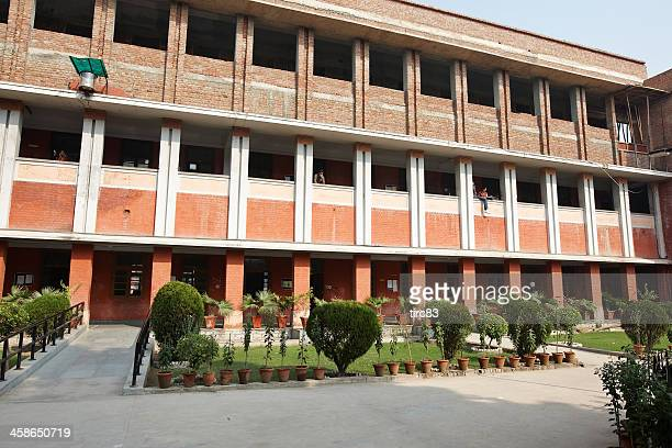 delhi university building and grounds - delhi stock pictures, royalty-free photos & images