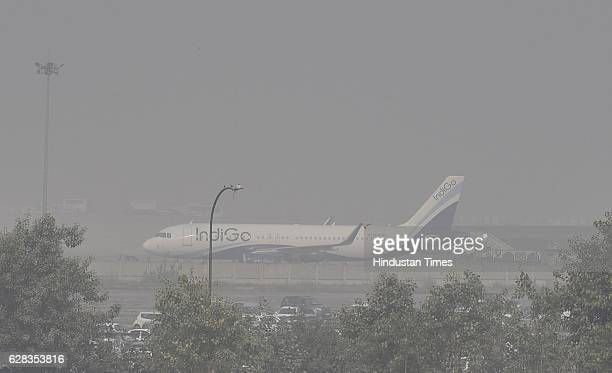 Delhibound flights have been delayed rescheduled and cancelled due to dense fog in the national capital at Indira Gandhi International Airport on...