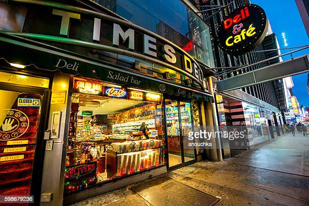 Deli and cafe on Times Square, NYC, USA