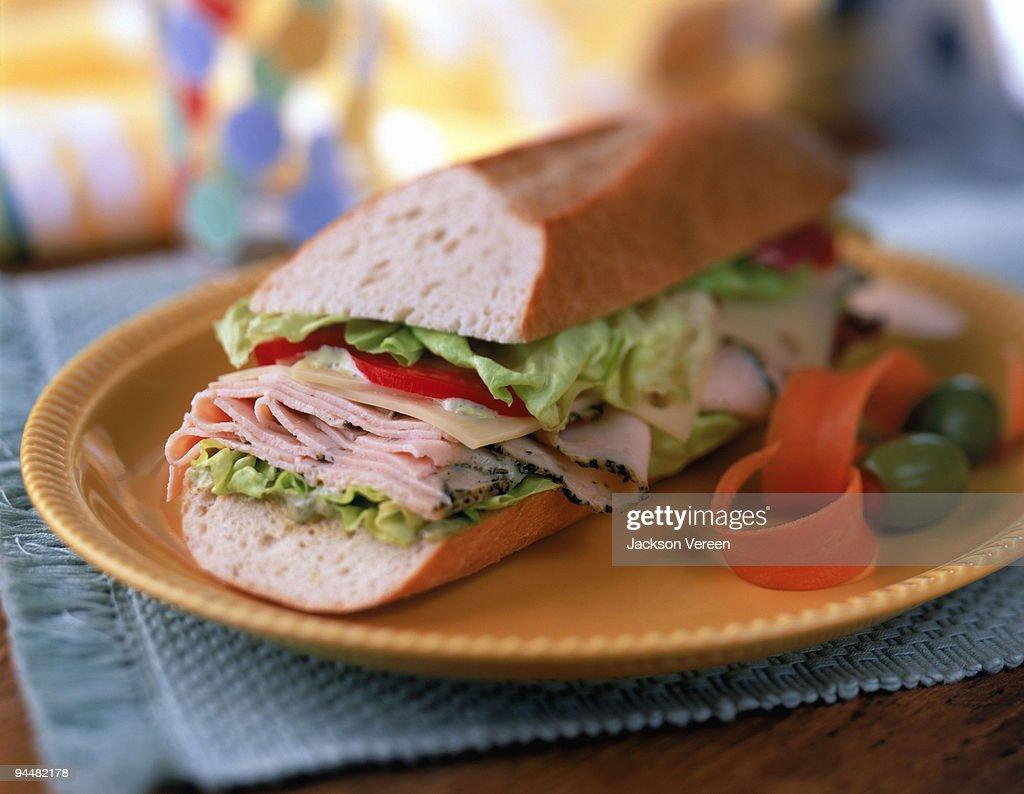 Deli chicken sandwich : Stock Photo