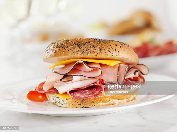 Deli Meat and Cheese Sandwich